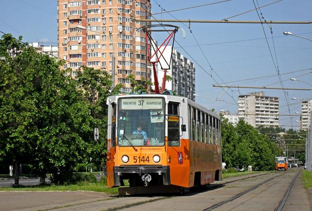 Маршрут трамвая 37 на карте Москвы